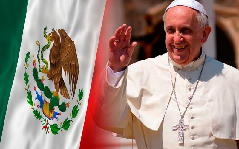 O papa no México em 12 de fevereiro de 2016