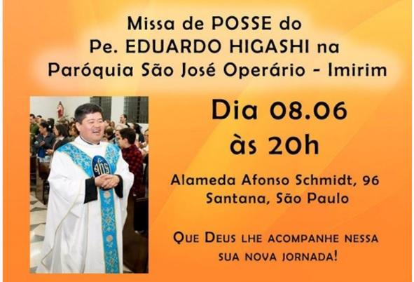 Pe. EDUARDO HIGASHI – Missa de posse na Paróquia São José Operário