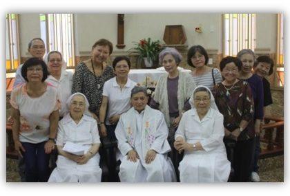 Comunidade da PANIB de São Judas Tadeu em visita Casa de Repouso Franciscana de Taubaté (SP)
