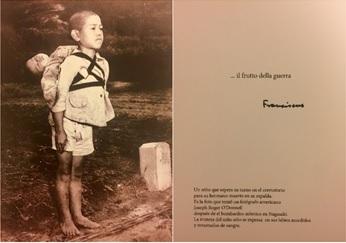 O Papa compartilha a imagem de Nagasaki perturbadora como uma advertência contra a guerra