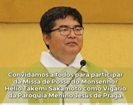Monsenhor Hélio Takemi Sakamoto, novo vigário da Paróquia Menino Jesus de Praga – Maringá (PR)