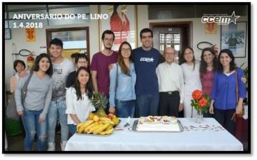 Padre Lino Stahl celebrou seu aniversário de 95 anos