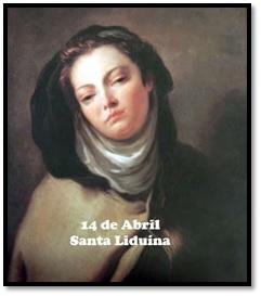 Santo do Mês de ABRIL: Santa Liduína – 14 de abril